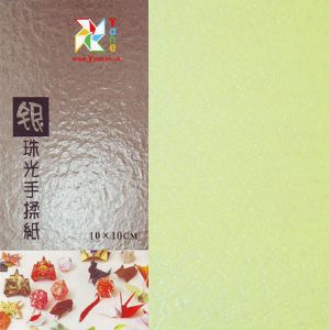 Shoyu Pearlescent Linght Bean Green, 10cm square, 30 sheets, [KKY057]